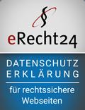 Siegel Datenschutzerklärung von e-Recht24