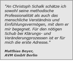 Matthias Beyer sagt über Christoph Schalk:
